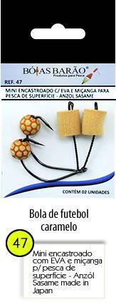 MINI ENCASTOADO COM E.V.A E MIÇANGA - ROBALO 2 UNIDADES BÓIAS BARÃO