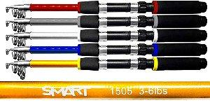VARA TELESCÓPICA P/ MOLINETE ALBATROZ SMART 1505 1,50 MTS 5 PARTES