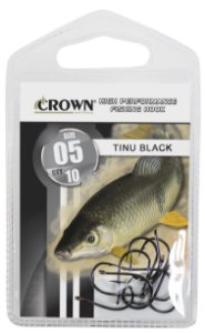 ANZOL CARTELA CROWN CHINU BLACK Nº 1 C/10