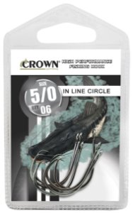 ANZOL CARTELA CROWN IN LINE CIRCLE BLACK Nº 5/0 C/06