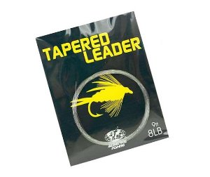 LINHA MONOFILAMENTO ALBATROZ TAPERED LEADER FLY FISHING 17LBS 2,70M