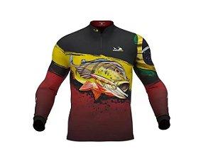 Camisa Camiseta Pesca Presa Viva Tucunaré Açu Masculino 03 XG