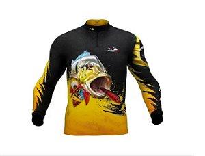 Camisa Camiseta Pesca Presa Viva Tucunaré Açu Masculino 04 XG