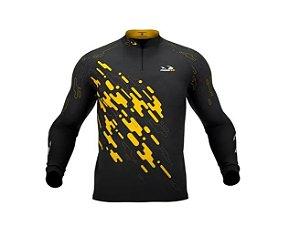 Camisa Camiseta Pesca Presa Viva Tucunaré Amarelo Masc. 01 GG