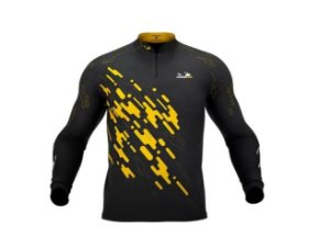 Camisa Camiseta Pesca Presa Viva Tucunaré Amarelo Masc. 01 XG