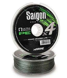 LINHA MULTIFILAMENTO MARINE SPORTS X4 SAIGON ARMY GREEN 0,15MM 15LBS 100M