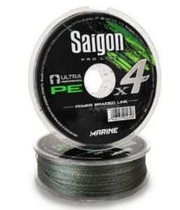 LINHA MULTIFILAMENTO MARINE SPORTS X4 SAIGON ARMY GREEN 0,37MM 55LBS 100M