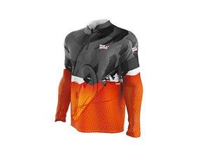 Camiseta Camisa Pesca Proteção Uv50 Mar Negro - Pirarara P