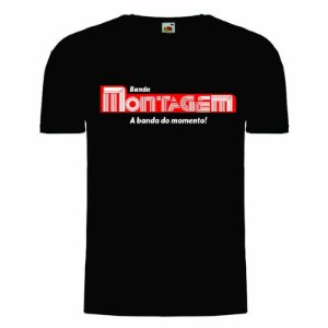 Camisa Banda Montagem preta