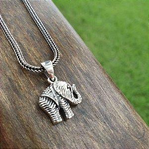 Pingente Elefante da Sorte Prata