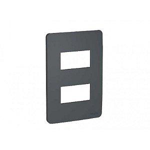 PLACA ORION 4X2 STELLAR BLACK = 2 MODULOS