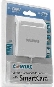 Leitor e Gravador de Cartões Smart Card - USB 2.0 - COMTAC - 9202