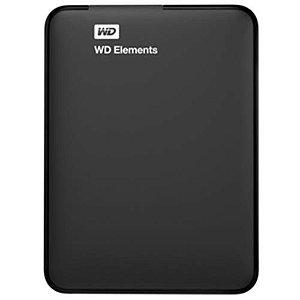 Hd Externo Western Digital 1tb Portátil Wd Elements Preto - Wdbuzg0010bbk