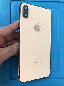 Carcaça Iphone XS Max Dourada Chassi Original