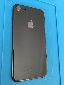 Carcaça Chassi Iphone 7 Preta Brilhante Original Apple com detalhes.