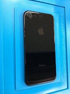 Carcaça Chassi Iphone 7 Preta Brilhante com detalhes.