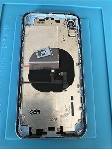 Carcaça Iphone XR  Azul Original Apple Chassi Impecável  !!!