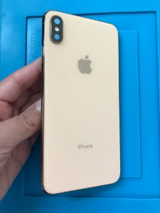 Carcaça Iphone XS Max Dourada Chassi Impecável sem Detalhes !!!