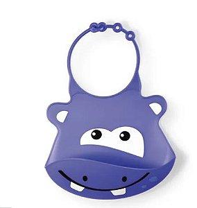 Babador De Silicone Silybib (Hipopótamo) Multikids Baby