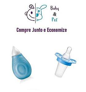 Kit Aspirador Nasal Azul + Aplicador Medical Liquido Azul - MultikidsBaby
