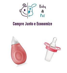 Kit Aspirador Nasal Rosa + Aplicador Medical Liquido Rosa - MultikidsBaby