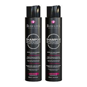 Kit com 2 Shampoos Anti Resíduo Limpeza Profunda 500ml