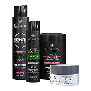 Kit One Step 300 ml + Anti resíduo + Máscara Resistent Therapy 1kg + Máscara Day by Day - Rubelita
