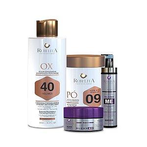 Kit Pó Descolorante + Água Oxigenada Emulsão OX 40 + Kit Blond Me