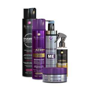 One Step Blond +  Easy Mask + Linha Blond Me + Shampoo Anti Resíduo 500ml Rubelita Professional
