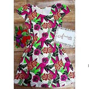 Vestido Floral Florido Plus Size GG