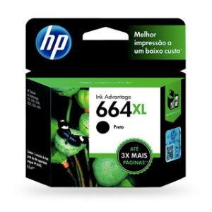 CARTUCHO HP 664XL PRETO 8,5ML