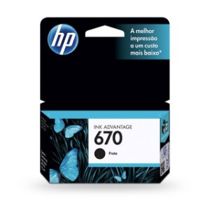 Cartucho HP 670 Preto 7,5ML