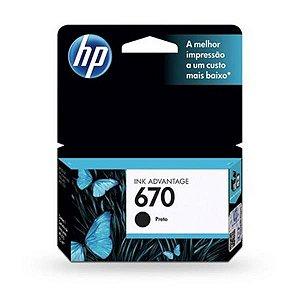 Cartucho HP 670 Preto 7,5ML