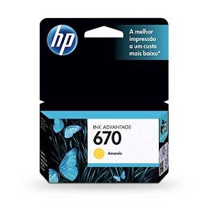 Cartucho HP 670 Amarelo 3,5ML