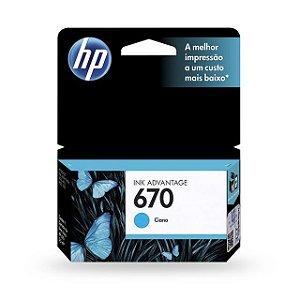 Cartucho HP 670 Ciano 3,5