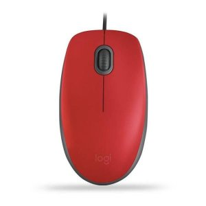 Mouse Logitech Com Clique Silencioso M110 Vermelho
