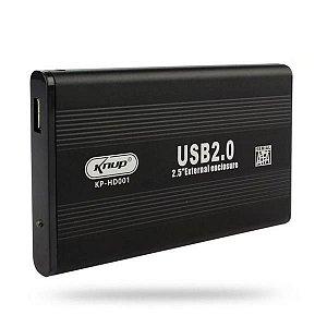 Case 2.0 Para HD Sata 2.5 Knup KP-HD001