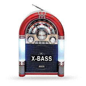 Radio FM/AM Portátil USB Bluetooth Vermelho CMik MK-166BT