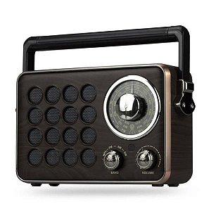 Caixa de Som Retrô Bluetooth CMik MK-613