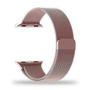 Pulseira Apple Watch 42mm Metal Rosê