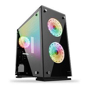 Gabinete Gamer H605-TA Preto/LED Gamemax