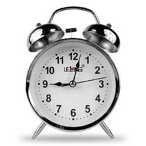 Relógio De Mesa Com Luz e Despertador Lelong LE-8121