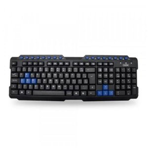 Teclado Gamer Action Preto/Azul USB OEX TC200