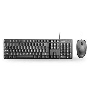 Kit Teclado e Mouse Philips Com Fio C254 SPT6254B