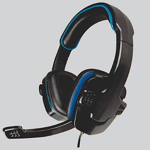 HEADSET GAMER STEREO C/MICROFONE PRETO/LED AZUL AR-S501 K-MEX