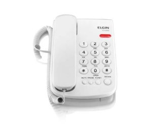 Telefone de Mesa c/ Fio 42TCF2000B Branco Elgin
