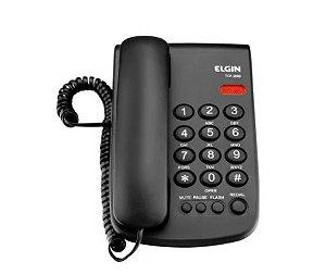 Telefone de Mesa c/ Fio TCF2000 Preto Elgin