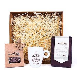 Kit Dia dos Pais - Café + Xícara + Chocolate - Modelo 2