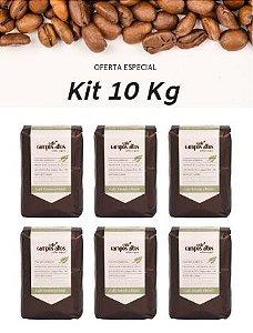 Kit Atacado Café Especial Campos Altos Torrado e Moído 10 KG - 20 Pacotes 500 gramas