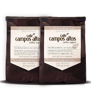 Na compra de 1 Café Campos Altos 250g Grão o 2° sai com 50% de desconto